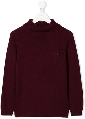 Paolo Pecora Kids Knitted Roll-Neck Jumper
