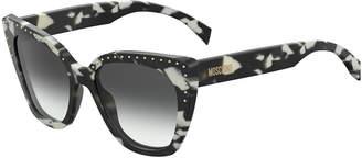 Moschino Cat Eye Studded Gradient Sunglasses