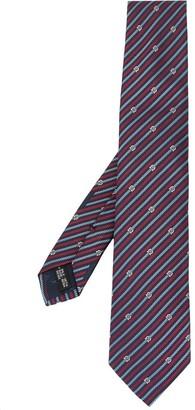 Salvatore Ferragamo Gancini chain print tie
