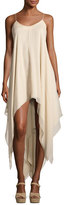 Haute Hippie Wild Heart High-Low Maxi Dress, White