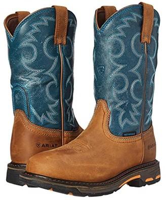 Ariat Workhog Pull-On WP (Aged Bark/Topaz) Women's Work Boots