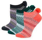 Free People Three-Pack Pom Pom Socks