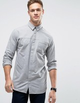 Jack and Jones Core Shirt With Concealed Placket In Regular Fit