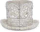 Judith Leiber Abracadabra Crystal Top Hat Minaudiere, Silver Shade