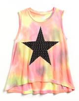 Flowers by Zoe Tweens 7-16 Tie-Dye Studded Star Top