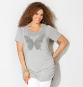 Avenue Beaded Butterfly Statement Tee