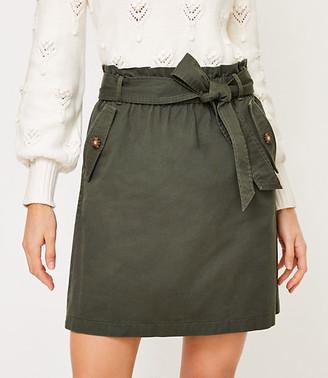 LOFT Tall Tie Waist Pocket Skirt