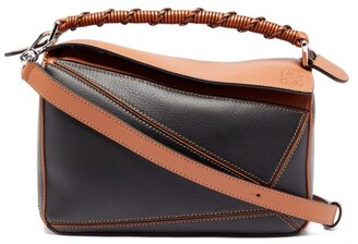 Loewe Puzzle Small Leather Cross-body Bag - Black Tan