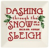 Lenox Holiday Dashing Through the Snow Square Tidbit Plate