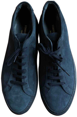 Common Projects Blue Leather Trainers