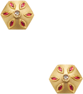 Artisan Women's 18K Yellow Gold & 0.16 Total Ct. Diamond Floral Stud Earrings