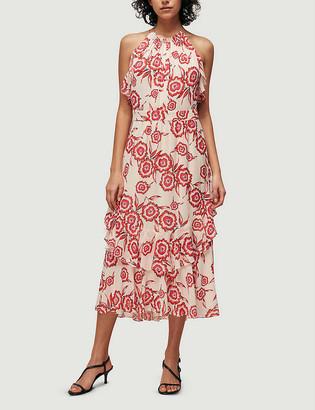 Whistles Devina floral-print crepe midi dress