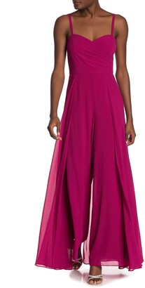 Marina Sweetheart Sleeveless Overlay Jumpsuit