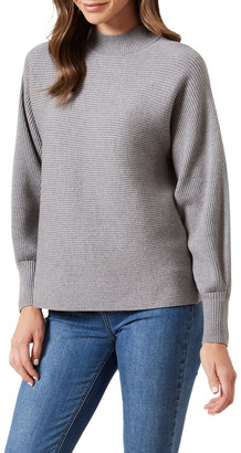 French Connection High Neck Rib Knit