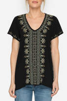 Johnny Was Embroidered Knit Top