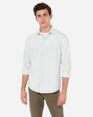 Express Slim Chambray Shirt