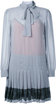 RED Valentino pleated bow tie dress - women - polyester - 42