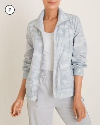 Zenergy Petite Camo-Print Jacket