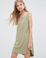 Vila Longline Layering Dress in Moss Green