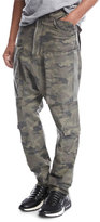 Hudson Drop-Inseam Twill Cargo Pants, Green Camo
