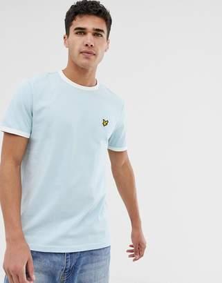 Lyle & Scott ringer t-shirt in light blue