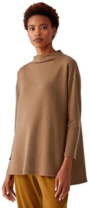 Eileen Fisher Funnel Neck Tunic (Hazel) Women's Clothing