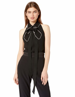 Trina Turk Women's Festive Embellished Bow Sleeveless Top