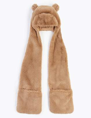 Marks and Spencer Kids' Faux Fur Long Trapper Hat (6-14 Years)