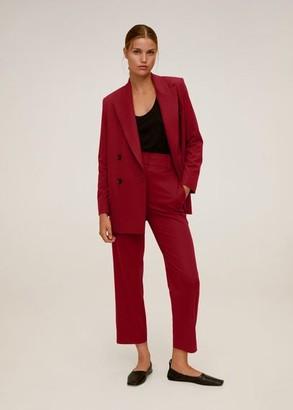 MANGO Pleated suit pants maroon - 2 - Women