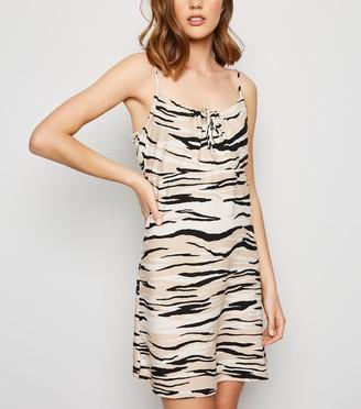 New Look Zebra Print Mini Slip Dress