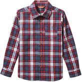 Joe Fresh Kid Boys' Flannel Shirt, Denim Blue (Size L)