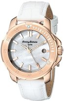 Tommy Bahama Women's 10018300 Laguna Rose Gold-Tone Stainless Steel White Leather Watch