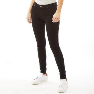 Onfire Womens Twill Skinny Jeans Black