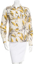 Tory Burch Wheat Print Button-Up Top