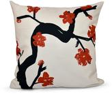 16 in. x 16 in. Floral Branch Polyester Pillow in Red