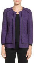 Ming Wang Women's Contrast Trim Knit Jacket