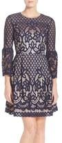 Eliza J Petite Women's Bell Sleeve Fit & Flare Dress