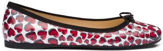 Prada Printed Patent Leather Ballerina Shoes