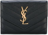 Saint Laurent 'Monogram' passport case - women - Calf Leather - One Size