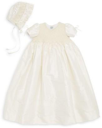 Isabel Garreton Baby's 2-Piece Pearl Silk Christening Gown & Bonnet Set
