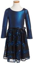Blush by Us Angels Metallic Fit & Flare Dress (Big Girls)