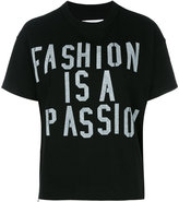 Sacai slogan T-shirt - women - Cotton - 1