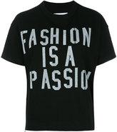Sacai slogan T-shirt