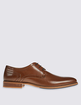 M&s Collection Luxury Leather Layered Sole Lace-up Derby Shoes