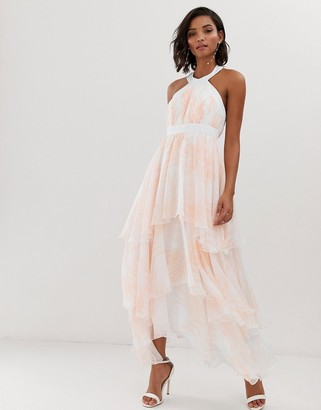 Y.A.S floral tiered chiffon maxi dress