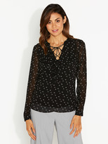 Portmans Harlow Ruffle Front Lace Top
