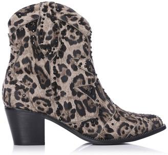 Moda In Pelle Chera Leopard Fabric