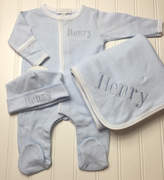 Etsy Baby boy coming home outfit, baby boy coming home outfit, Monogrammed footie monogram gown, converte
