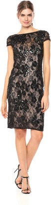 Adrianna Papell Women's Short Dress in Sequin Lace