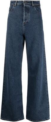 Y/Project Dark-Wash Wide-Leg Jeans